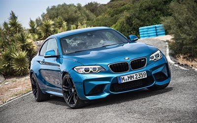 BMW M2, 2016 cars, coupe, sportcars, road, BMW