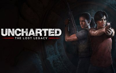 Uncharted The Lost Legacy, 4K, 2017 games, Chloe Frazer, Nadine Ross