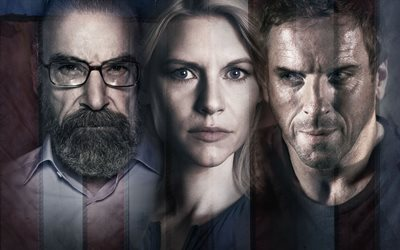 Homeland, 5K, 2017 movie, Mandy Patinkin, Claire Danes, Damian Lewis