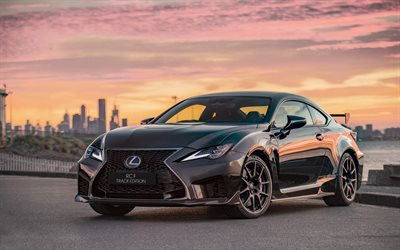 2020, Lexus RC F, Track Edition, black sports coupe, exterior, tuning RC F, new black RC F, Japanese sports cars, Lexus