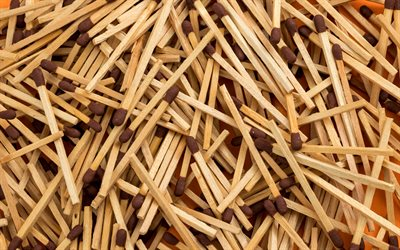 safety match textures, 4k, macro, wooden sticks textures, wooden backgrounds, wooden sticks, safety match