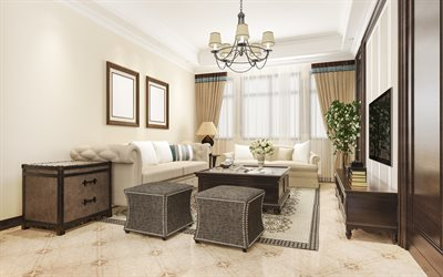 classic interior, living room, stylish interior, living room project, classic interior design