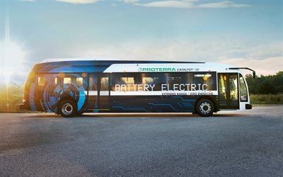 proterra catalyst e2, electric bus, electric traction, large buses, city bus, passenger buses