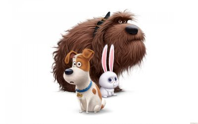 The Secret Life of Pets, 2016, all characters, 3d dog, 3d rabbit