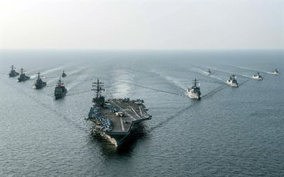 aircraft carrier, USS Ronald Reagan, CVN 76, US Navy Sea, type Nimitz