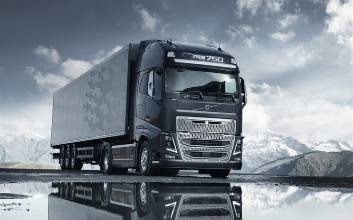 Volvo Fh16 750 Interior >> Download wallpapers Volvo FH16, 2016, truck with trailer, FH16-750 for desktop free. Pictures ...