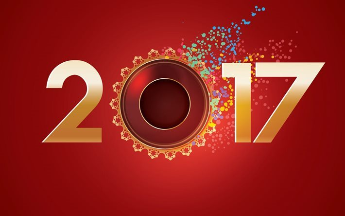 Happy New Year, 2017, Christmas Wallpaper, 2017 new year