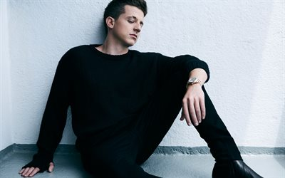 Charlie Puth, American pop singer, 4k, photoshoot, black jacket, portrait, American celebrities