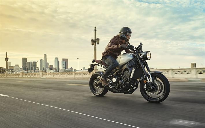 Download Wallpapers Yamaha XSR900, 4k, Rider, 2017 Bikes