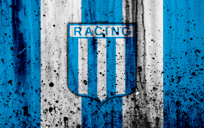 Download Wallpapers 4k Fc Racing Club Grunge Superliga Soccer