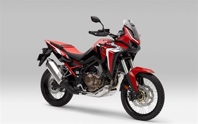 Honda XRV650 Africa Twin, 2021, front view, exterior, red XRV650 Africa Twin, japanese motorcycles, Honda
