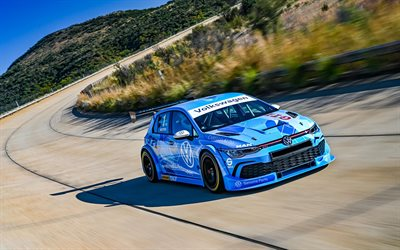 4k, Volkswagen Golf GTI, tuning, raceway, 2020 cars, supercars, 2020 Volkswagen Golf, german cars, Volkswagen