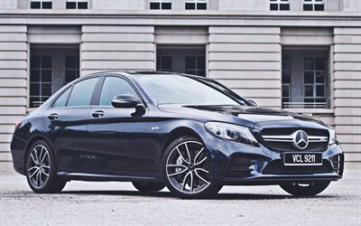 Mercedes-AMG C 43, 4k, 2020 cars, luxury cars, W205, MY-spec, 2020 Mercedes-Benz C-class, german cars, Mercedes