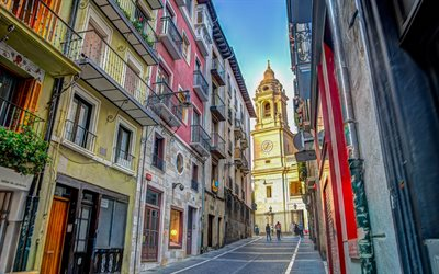 Pamplona Cathedral, Pamplona, Roman Catholic church, chapel, evening, sunset, Spain