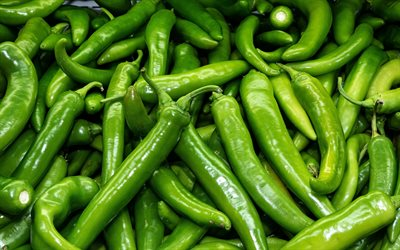 green pepper, hot pepper, texture with pepper, pepper, background with green pepper