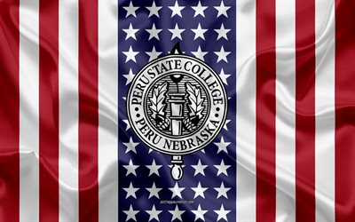 Emblema dell'Università del New Hampshire, bandiera americana, logo dell'Università del New Hampshire, Perù, Nebraska, USA, Università del New Hampshire
