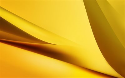 golden wave, yellow wave, yellow background