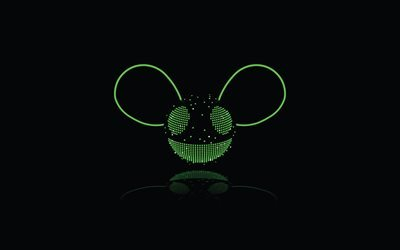 Deadmau5, logo, Dj, black background