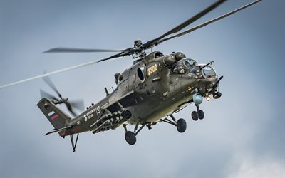Mi-24, Hind, Russian attack helicopter, Russian Air Force, military helicopters