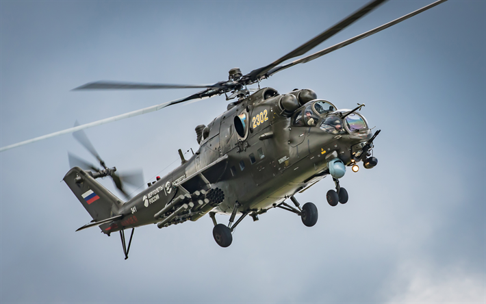 Mi 24 Hind Russian Attack Helicopter Air Force Military Helicopters