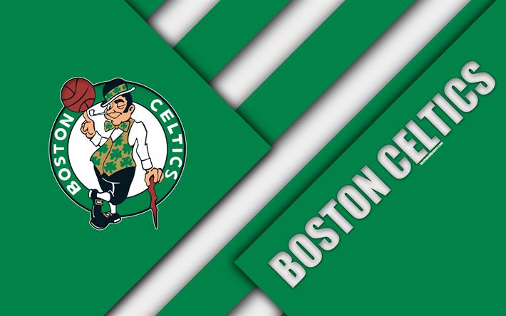 American Sports Material Wallpapers: Download Wallpapers Boston Celtics, 4k, Logo, Material