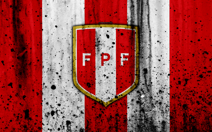 Peru National Football Team 4k Emblem Grunge South America