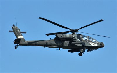 AH-64 Apache, McDonnell Douglas, American attack helicopter, US Army, military helicopters, USA