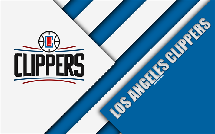 American Sports Material Wallpapers: Download Wallpapers Los Angeles Clippers, NBA, 4k, Logo
