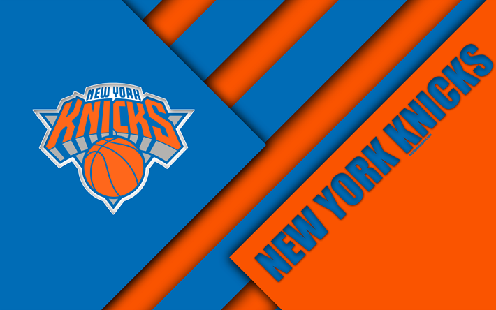 American Sports Material Wallpapers: Download Wallpapers New York Knicks, Blue Orange