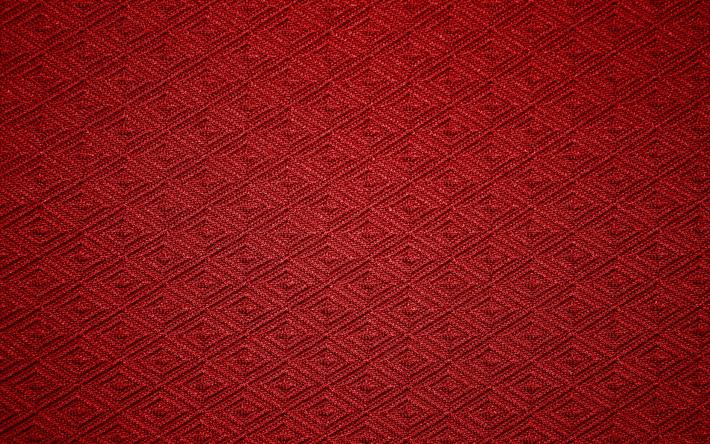 Download Wallpapers Fabric Texture, 4k, Vintage, Rhombuses