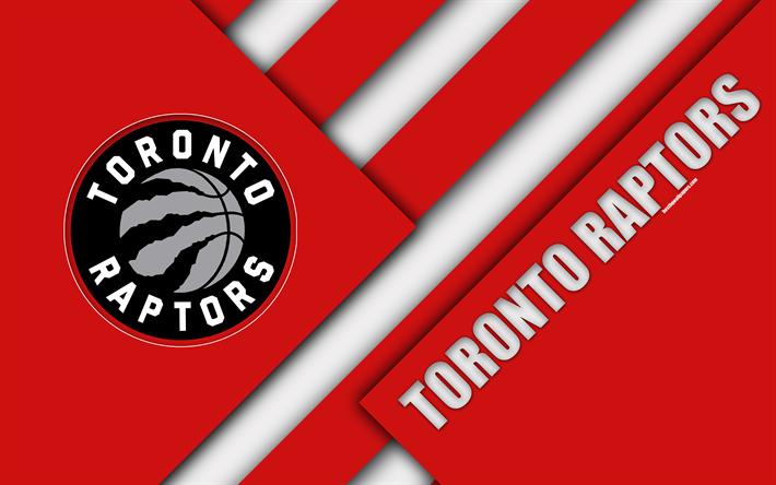 Toronto Raptors 4k Logo Material Design Basketball Club Red Abstraction