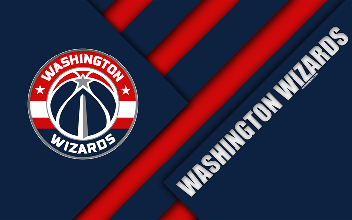 American Sports Material Wallpapers: Download Wallpapers Washington Wizards, 4k, Logo, Material