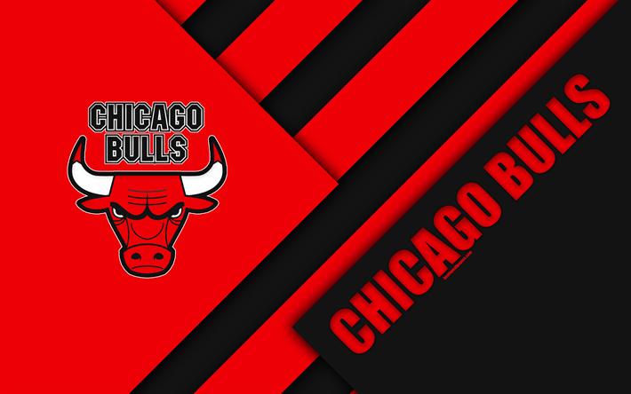 American Sports Material Wallpapers: Download Wallpapers Chicago Bulls, 4k, Logo, Material