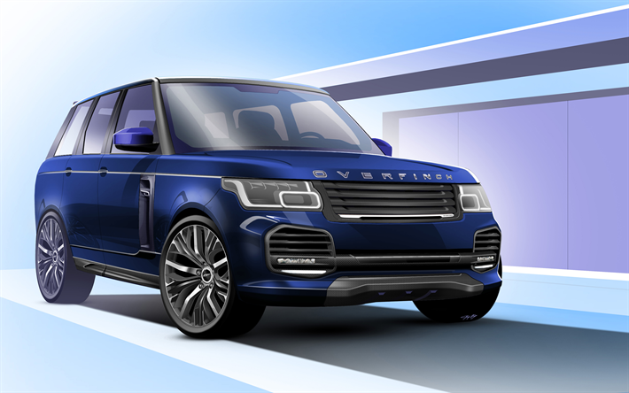 Download Wallpapers Overfinch Tuning 4k Range Rover Vogue