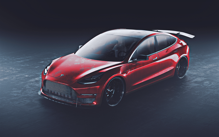 Descargar Fondos De Pantalla Tesla Model 3 4k Optimización