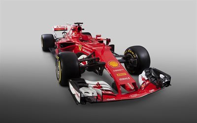 Formula 1, Ferrari SF70H, 2017, racing car, F1, race cars 2017, race