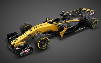 Formula 1, Renault RS17, 2017, F1, racing car