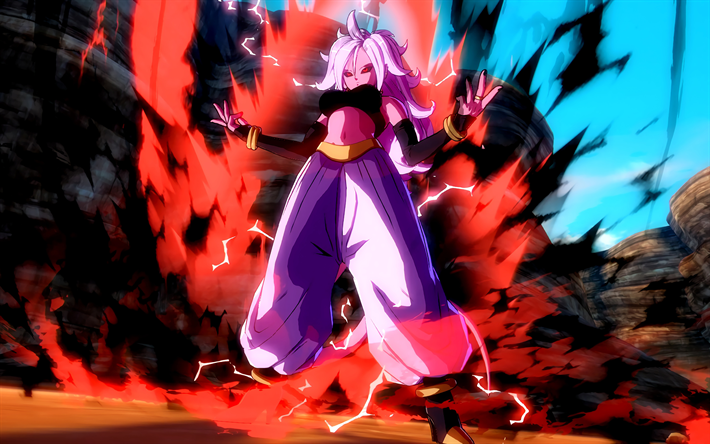 Download Wallpapers 4k Android 21 Fire Dragon Ball