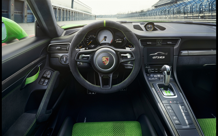 Download Wallpapers Porsche 911 Gt3 Rs 4k Interior 2019 Cars Supercars Porsche 911 Dashboard Porsche For Desktop Free Pictures For Desktop Free