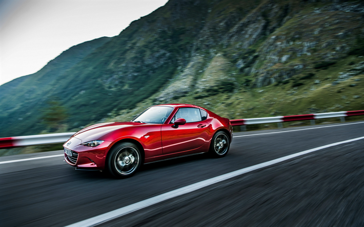 Download Wallpapers Mazda Mx 5 Rf 2019 Red Sports Coupe New Red