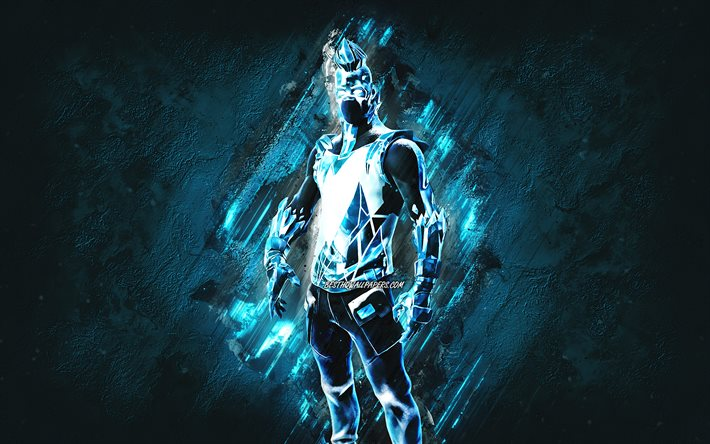 Fortnite Frost Broker Skin, Fortnite, personaggi principali, sfondo blu pietra, Frost Broker, Skin Fortnite, Frost Broker Skin, Frost Broker Fortnite, Personaggi Fortnite
