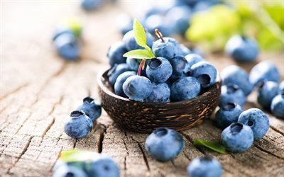 Blueberries, berries, healthy food
