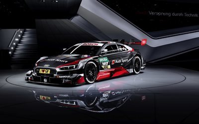 download wallpapers audi rs5 coupe 2017 dtm racing cars german cars tuning audi for. Black Bedroom Furniture Sets. Home Design Ideas