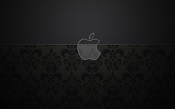 Apple, logo, vintage pattern
