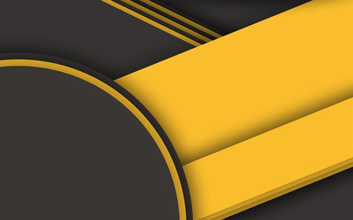 Download Wallpapers Android Black And Yellow Material