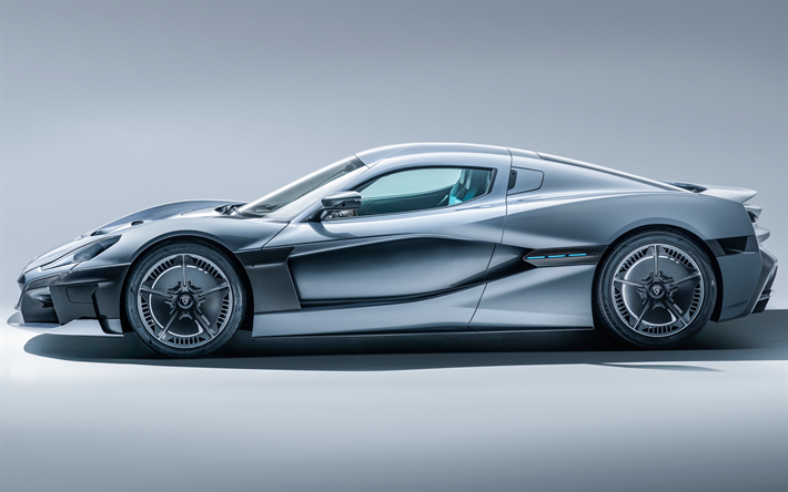 Download Wallpapers Rimac C Two 2018 Side View Electric Sports