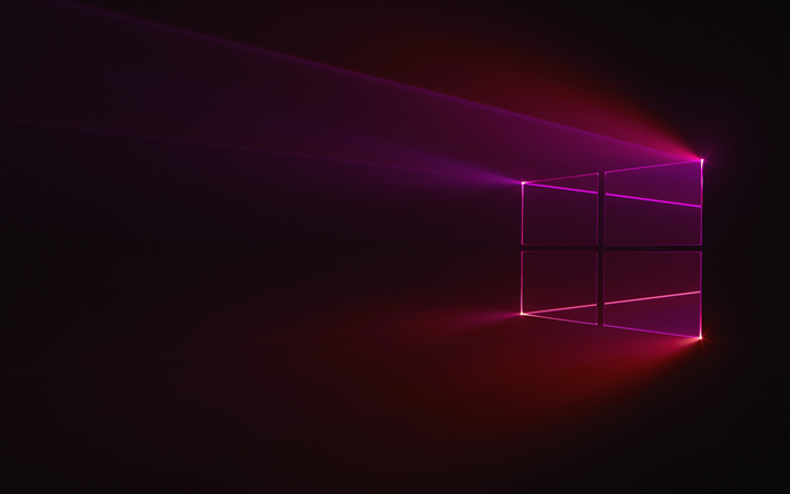 download wallpapers windows 10 purple logo dark background