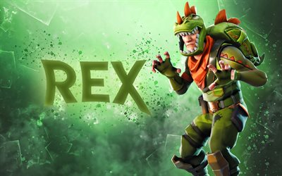 Rex, fan art, Fortnite, 2019 games, Fortnite Battle Royale, cyber warrior, Fortnite characters, Rex Skin Fortnite