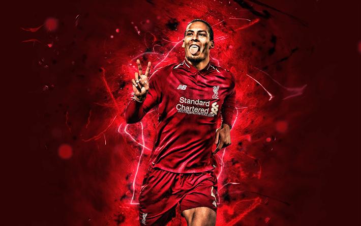 Download Wallpapers Virgil Van Dijk, Goal, Liverpool FC