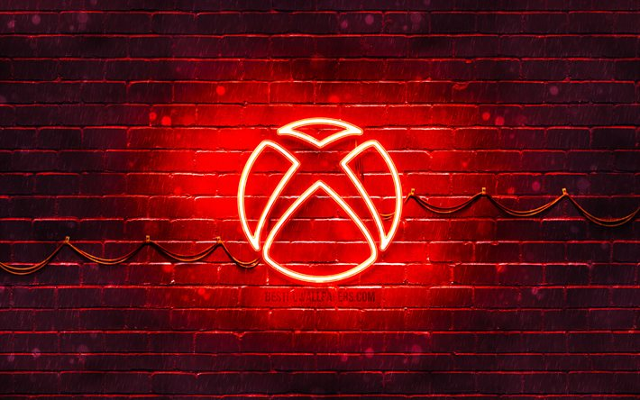 Download Wallpapers Xbox Red Logo 4k Red Brickwall Xbox Logo Brands Xbox Neon Logo Xbox For Desktop Free Pictures For Desktop Free